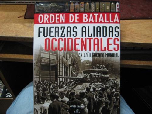 libro - orden de batalla aliados  segunda guerra mundial
