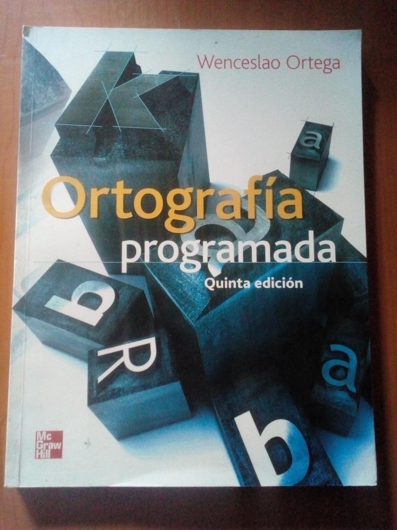 libro ortografia programada wenceslao ortega