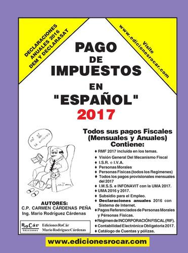 libro pago de impuestos en español 2017. nuevo de editorial.