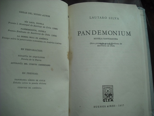 libro pandemonium  lautaro silva (576w