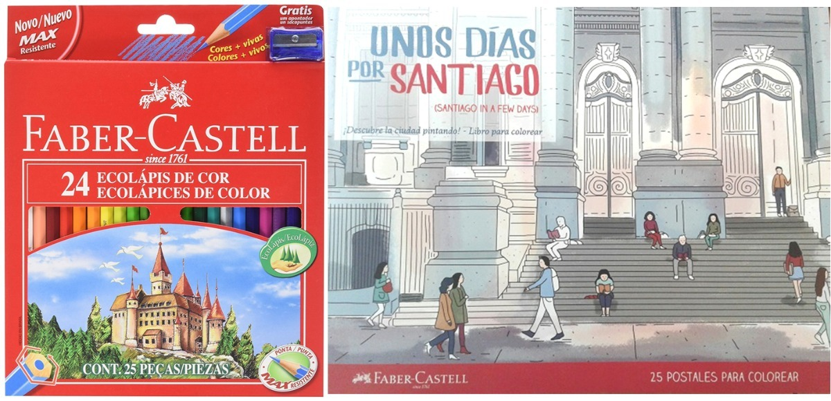 Libro Para Colorear + 24 Colores Faber Castell / Md - $ 9.990 en ...