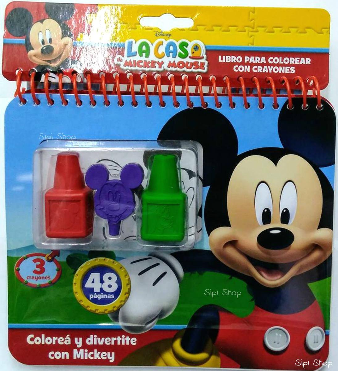 Libro Para Colorear 48 Pag Mickey Frozen Minnie 3 Crayones - $ 180 ...