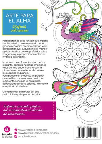 libro para colorear arte para el alma - arcadia ediciones
