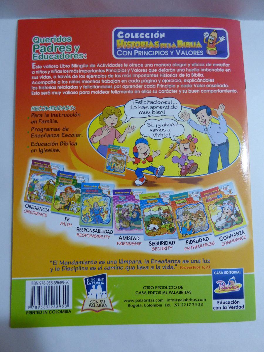 Libro Para Colorear Bilingue Historias De La Biblia Daniel - $ 5.900 ...