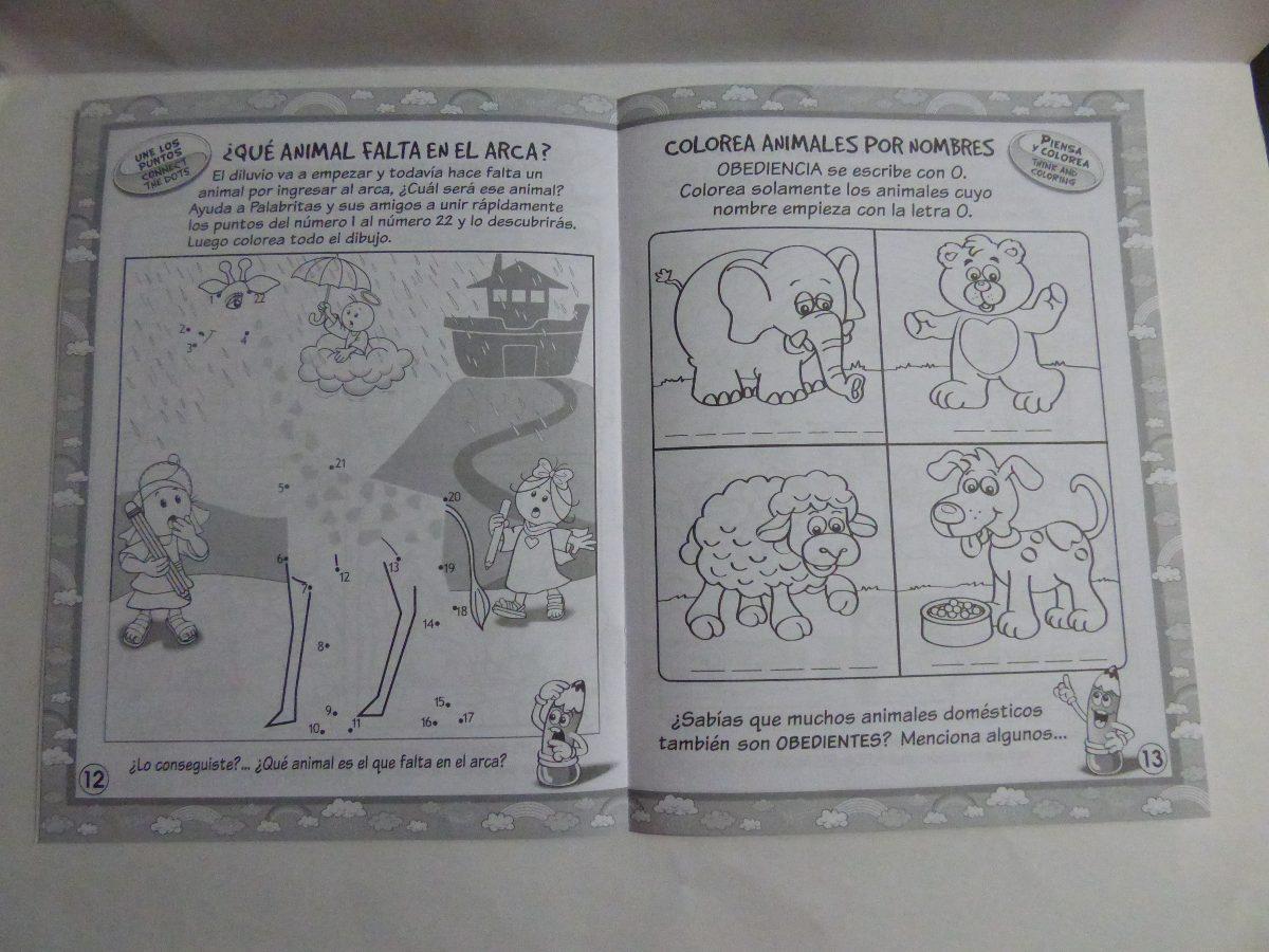 Libro Para Colorear Bilingue Historias De La Biblia Noe - $ 5.900 en ...