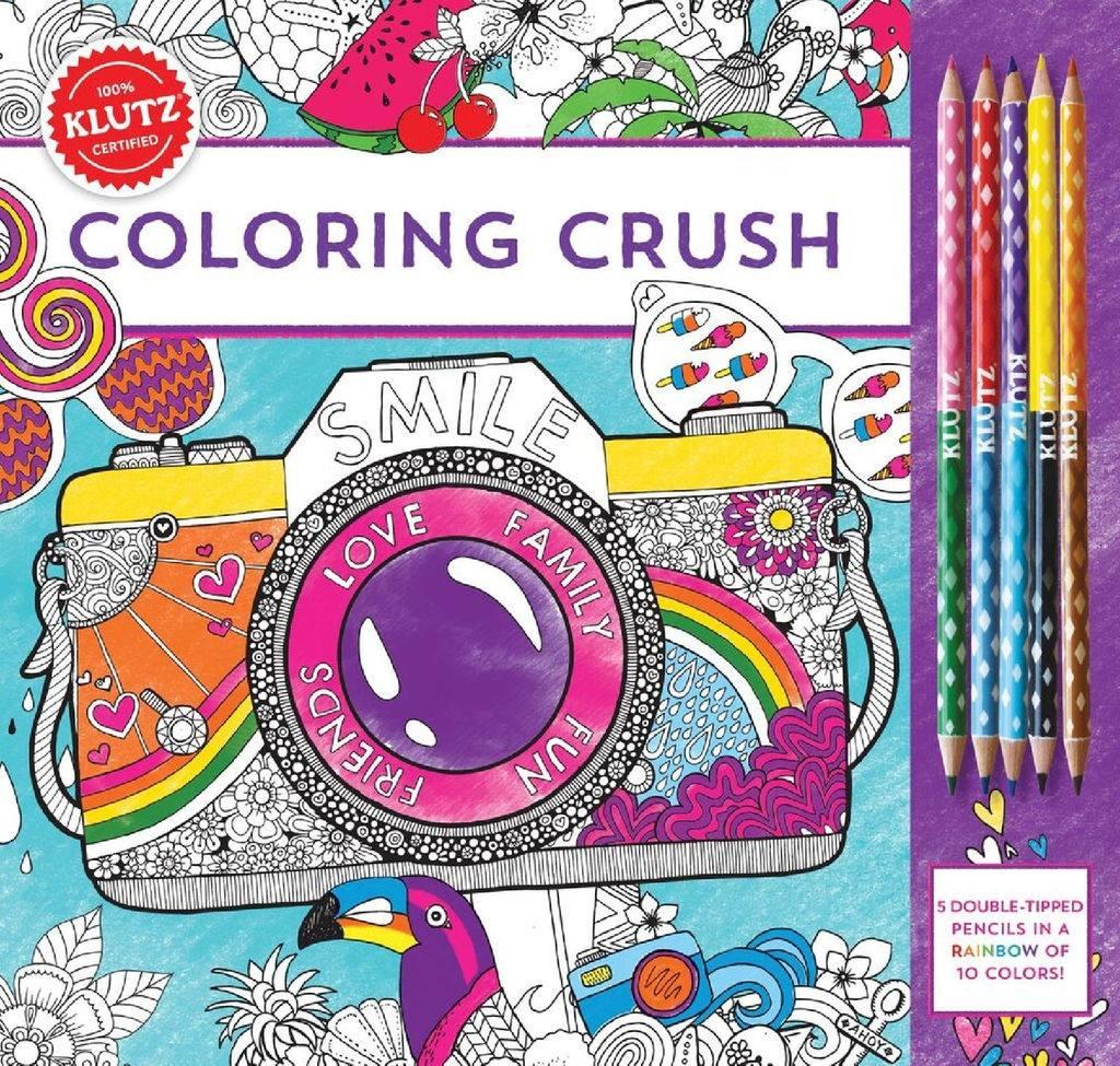 Libro Para Colorear Coloring Crush - $ 490.00 en Mercado Libre