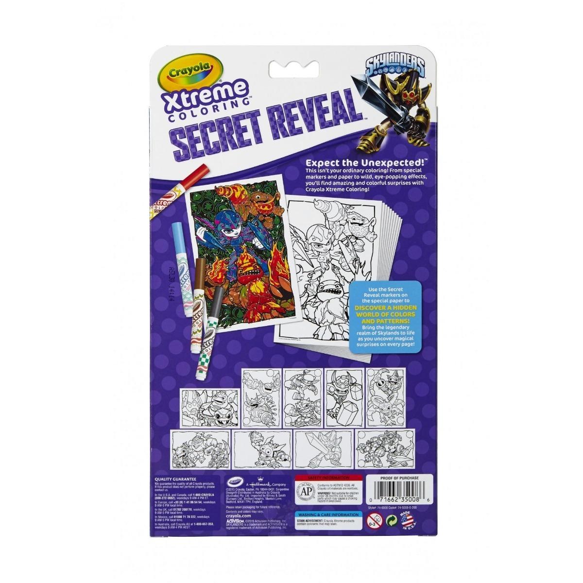 Libro Para Colorear Crayola Se Revela Secreto Virtual Y App ...