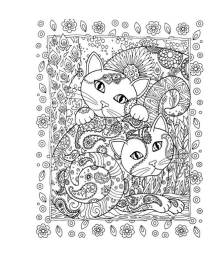 Libro Para Colorear Creative Cats Gatos Mandalas - $ 3.500 en ...