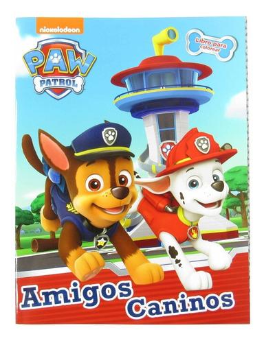 libro para colorear de 16 pag paw patrol varios diseños niño