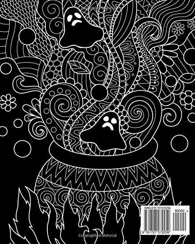 Libro Para Colorear De Halloween Gótico Libro Para Colorear