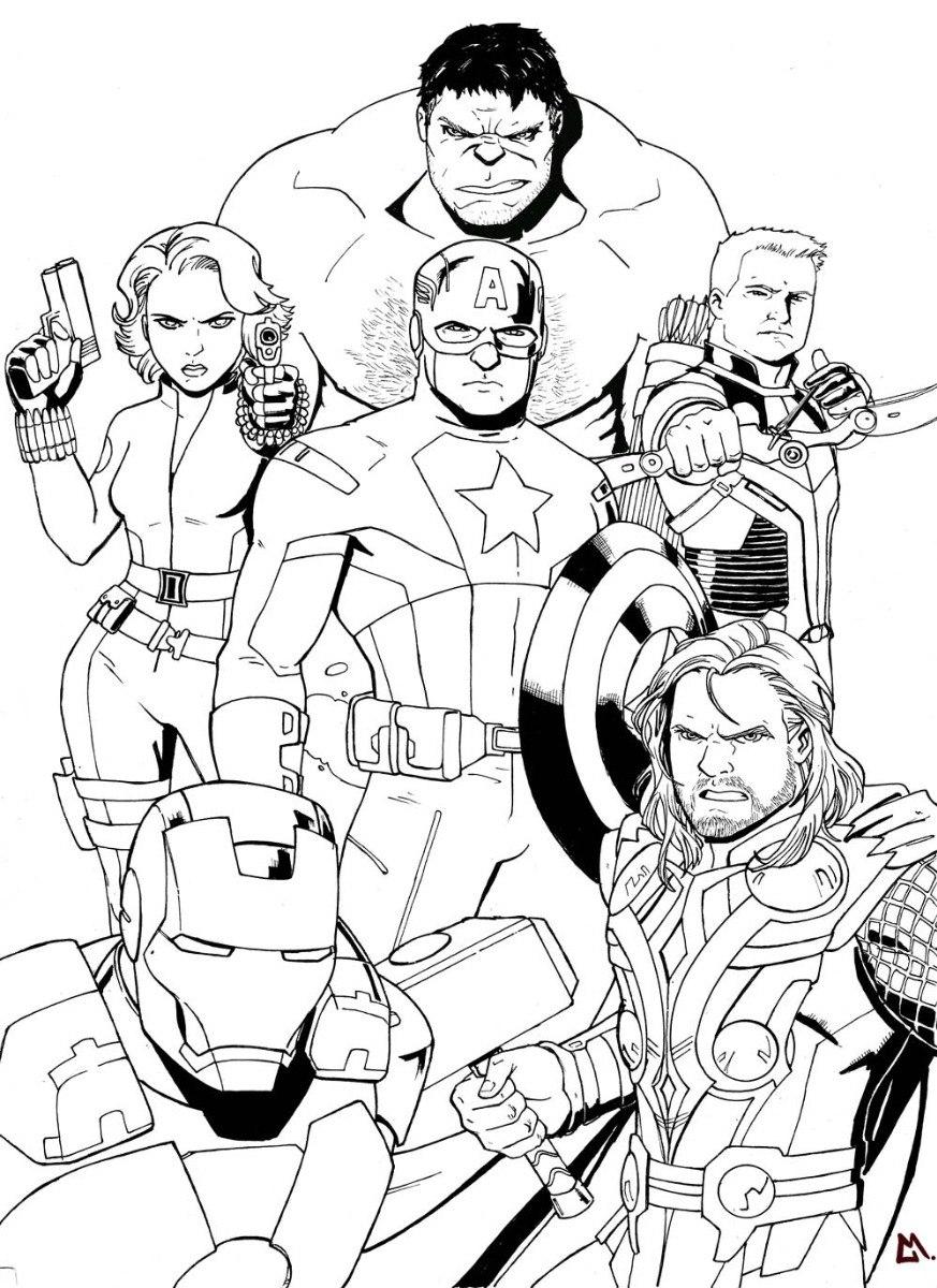 Libro Para Colorear De Los Vengadores, Marvel, Ecologicos, - Bs ...