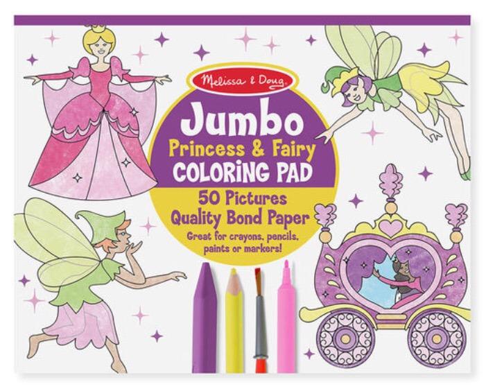 Libro Para Colorear De Princesas Y Hadas - $ 110.00 en Mercado Libre