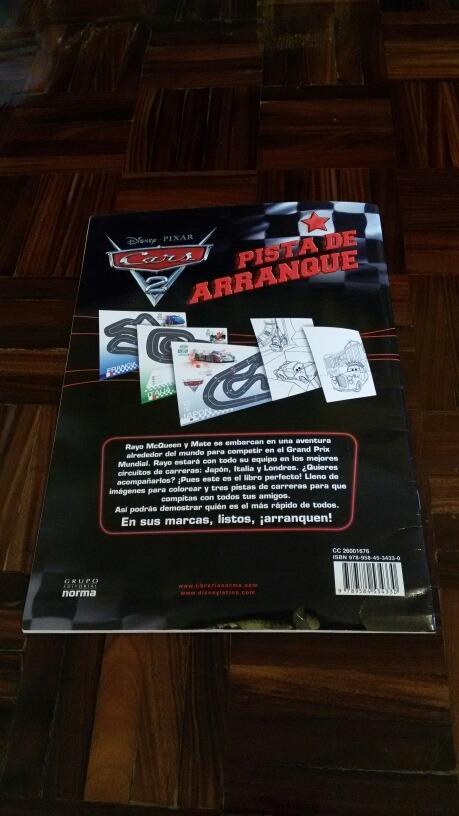 Libro Para Colorear Grande De Cars Pista De Arranque Import - Bs ...