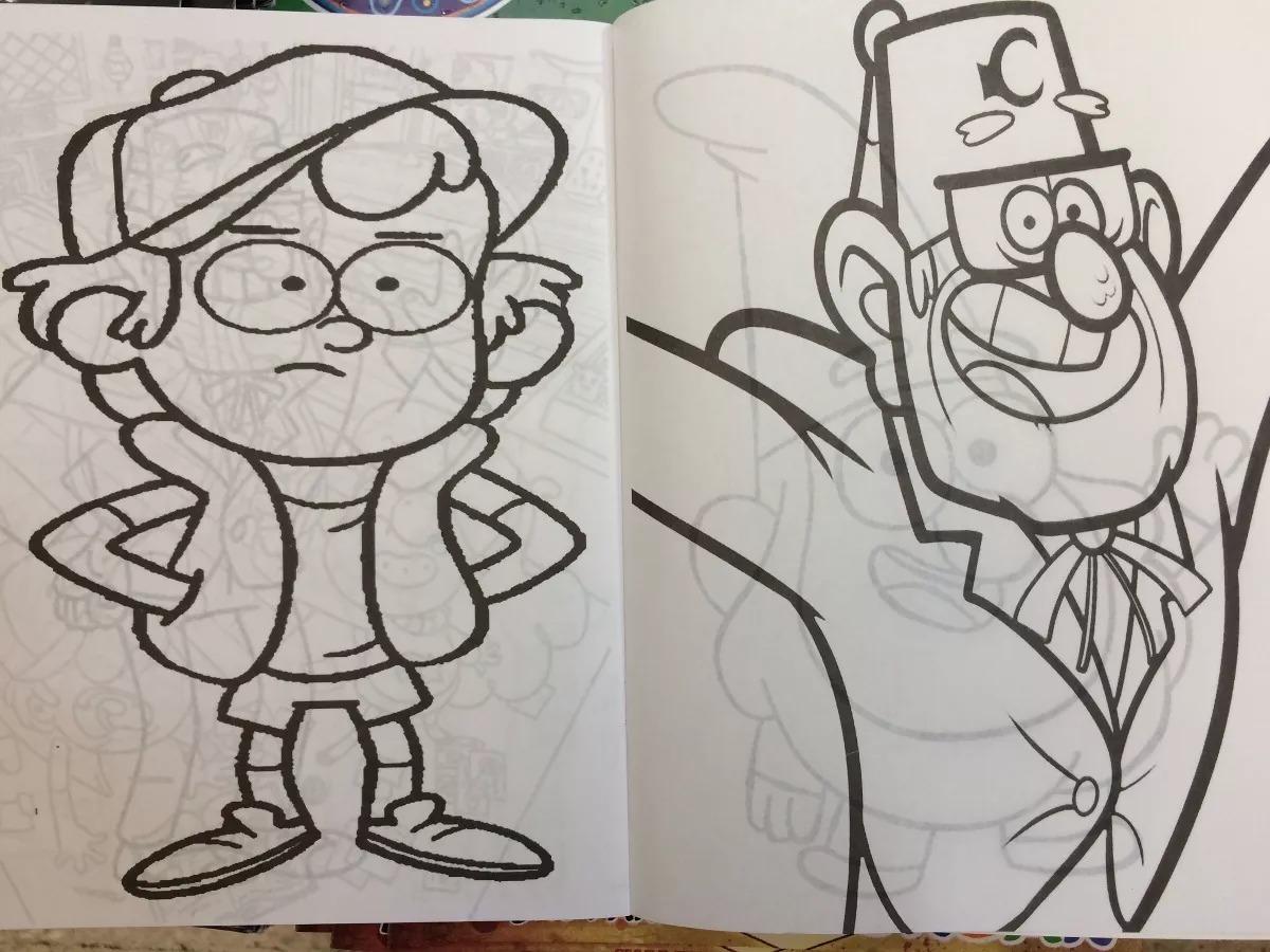 Libro Para Colorear Gravity Falls Tamaño Carta 16 Pág Fiesta