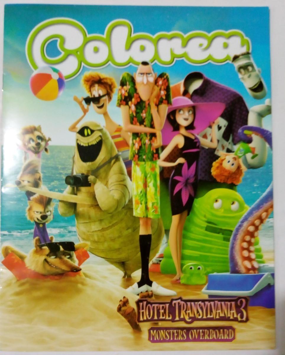 Libro Para Colorear Hotel Transylvania 3 Fiesta Bolo Dulcero