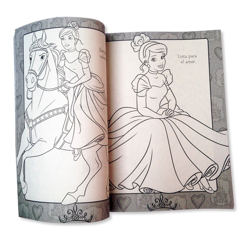 Libro Para Colorear Iluminar Princesas Disney 192 Paginas - $ 55.00 ...