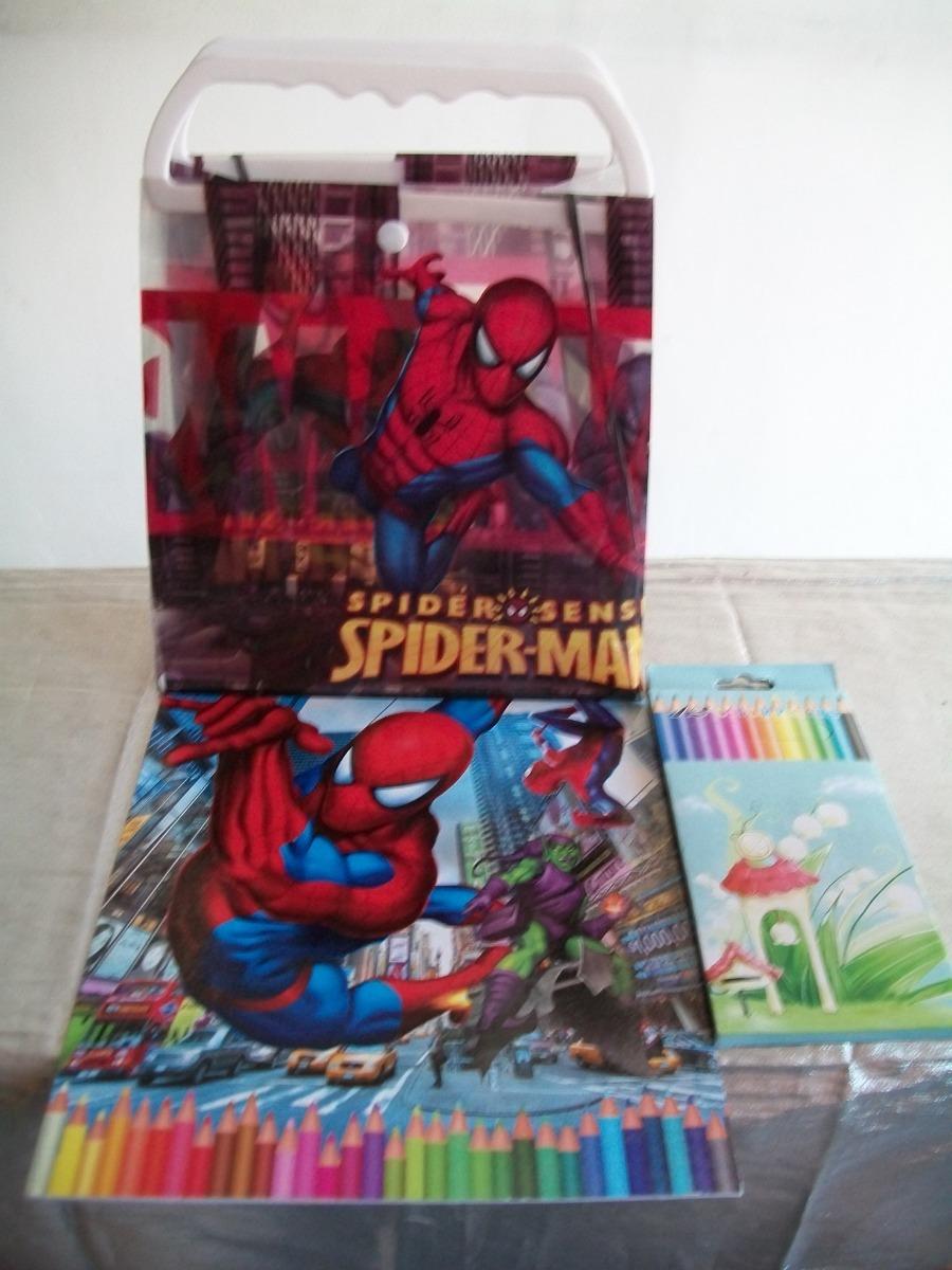 Libro Para Colorear Kit De Spiderman Con Sorpresa Incluida