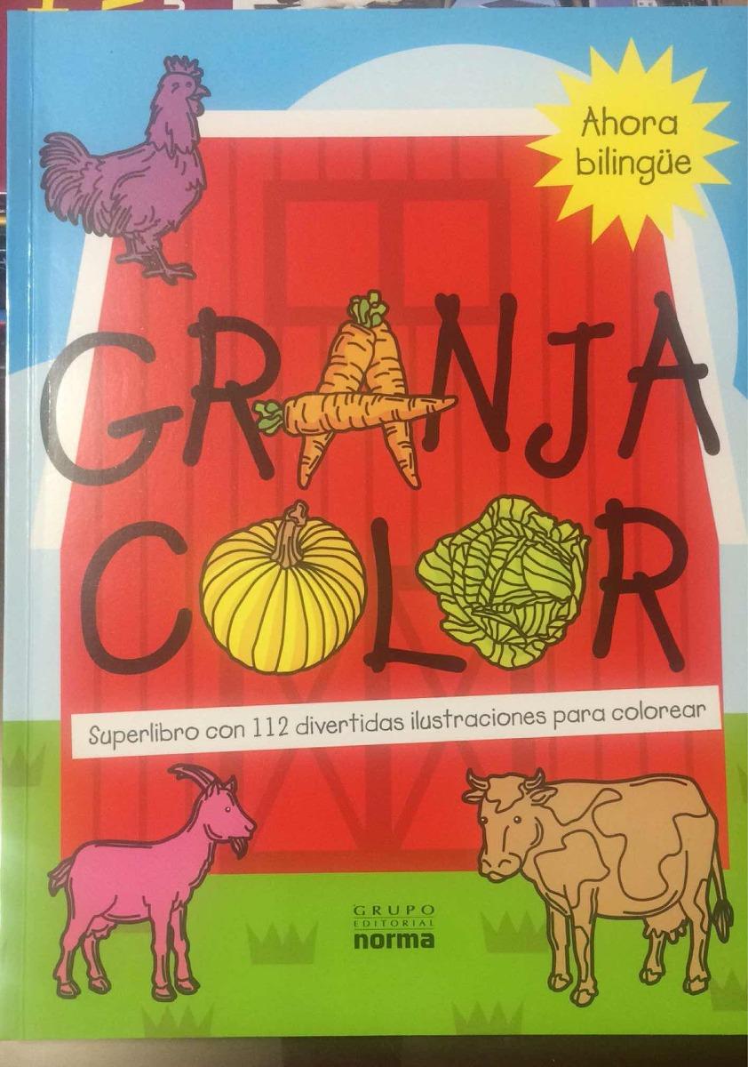 Libro Para Colorear La Granja De Color Regalos Cuentos Niños - Bs ...