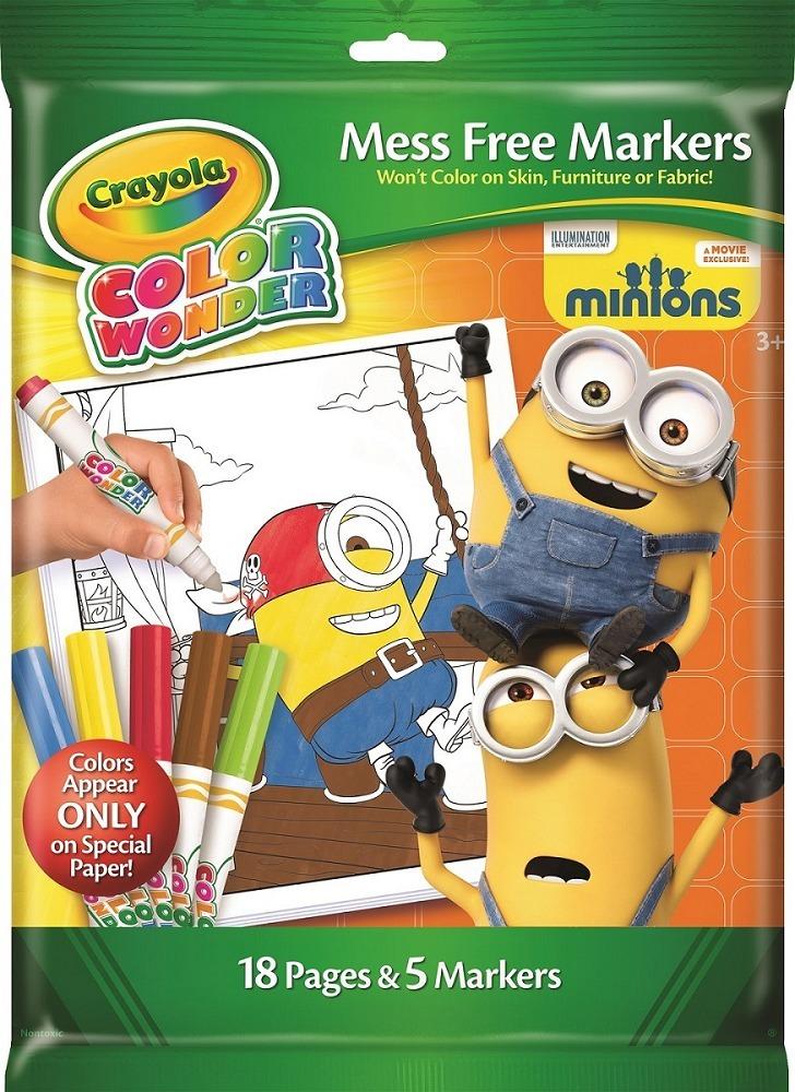 Libro Para Colorear Minion Con Marcadores - Crayola - Tutti - $ 864 ...