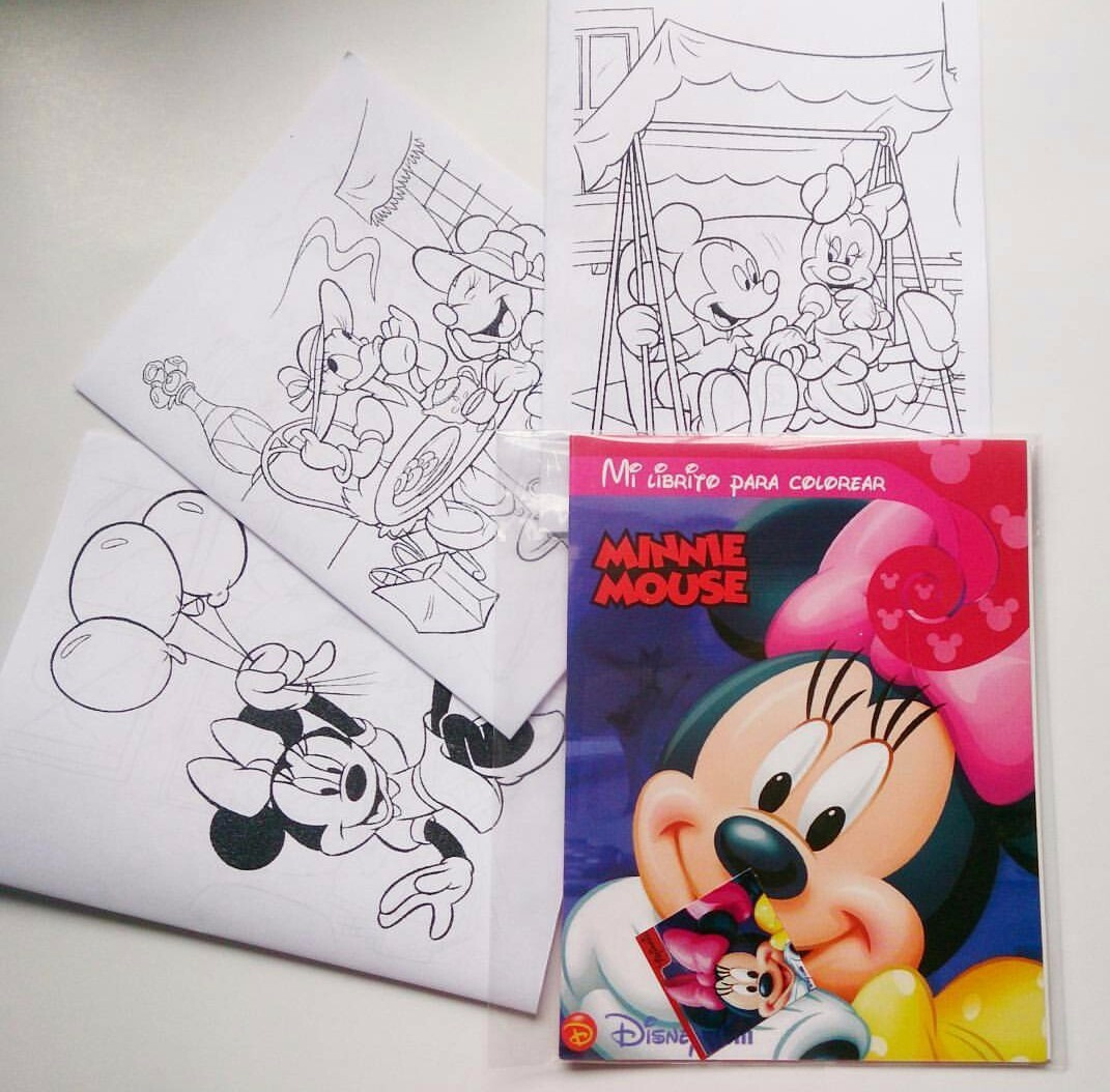Libro Para Colorear Minnie Mickey Mouse Piñata Recordatorios ...