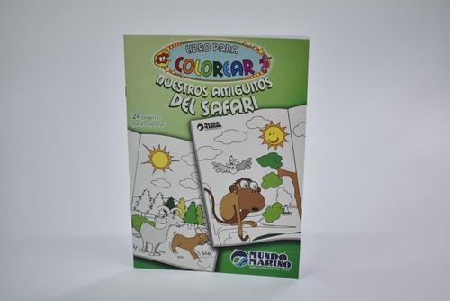 libro para colorear nuestros amigos del safari mundo marino