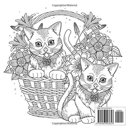 Libro Para Colorear Para Adultos Gatos Patrones Para Aliviar
