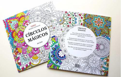 libro para colorear pintar mandalas círculos mágicos