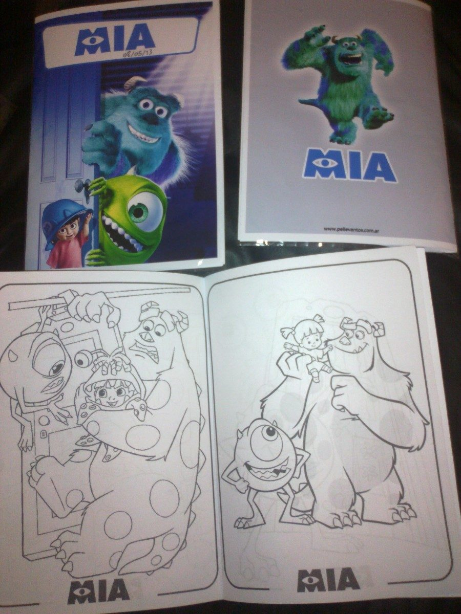 Libro Para Colorear Souvenir Monsters University Mi Villano - $ 249 ...