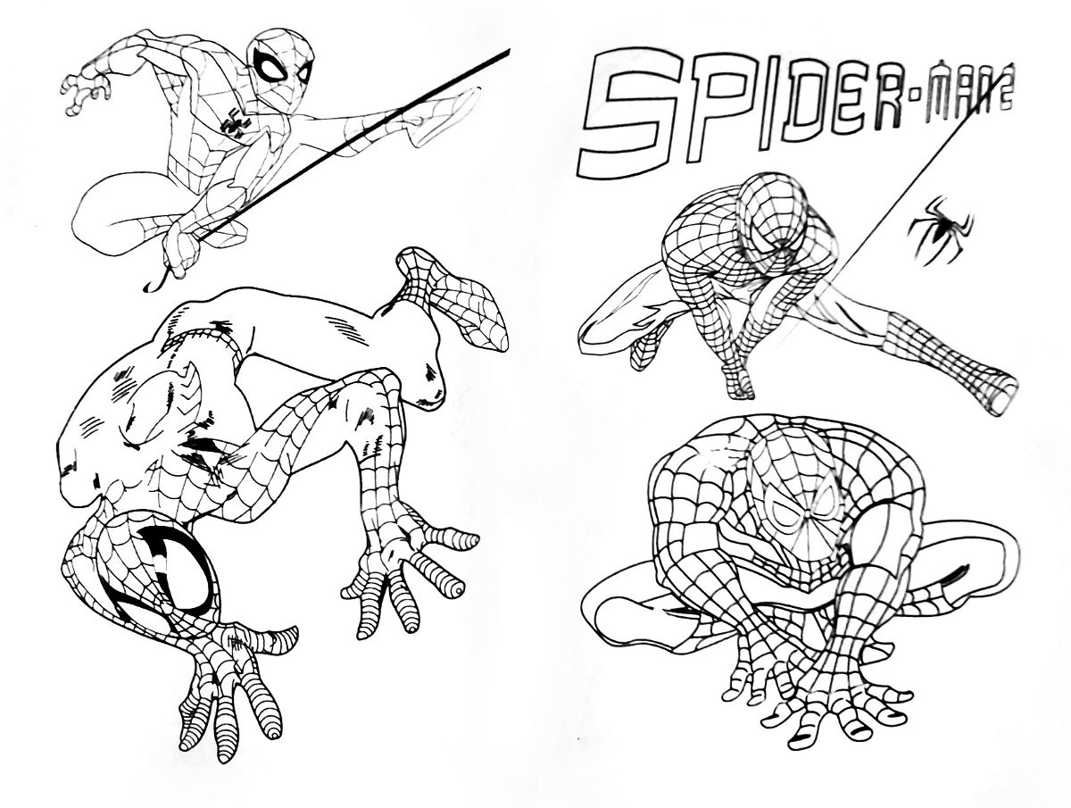 Libro Para Colorear Spiderman + Stickers + Marcadores - $ 14.900 en ...