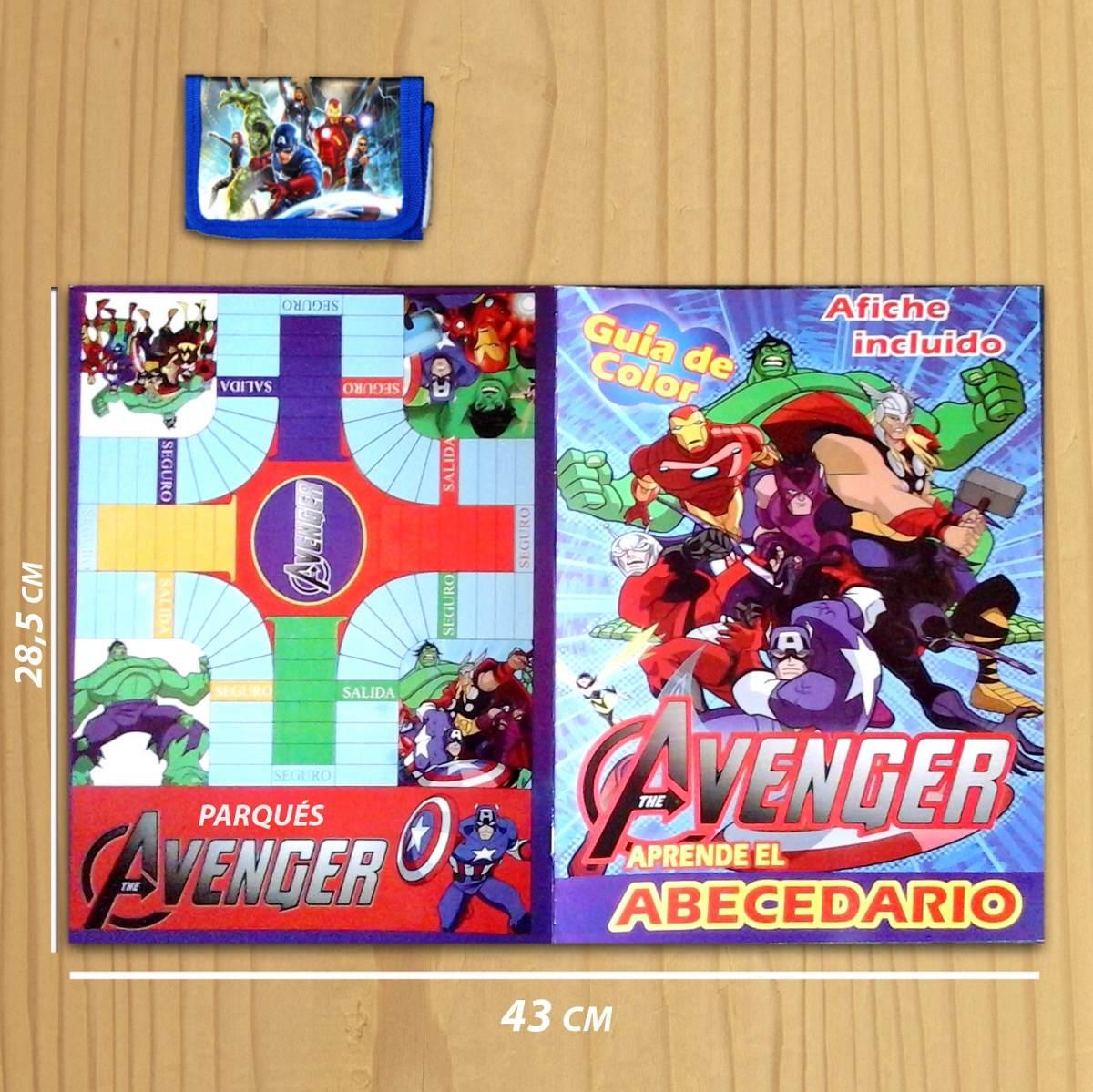 Libro Para Colorear The Avenger + Billetera De Superheroes ...