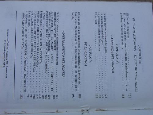 libro para expertos el pointer y su adiestramiento 213 pajin