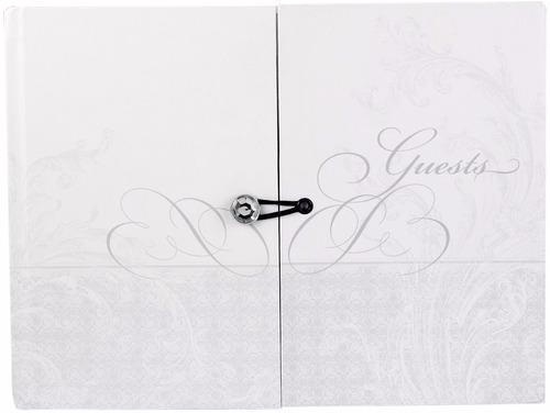 libro para firmas boda elegante carpeta doble joya