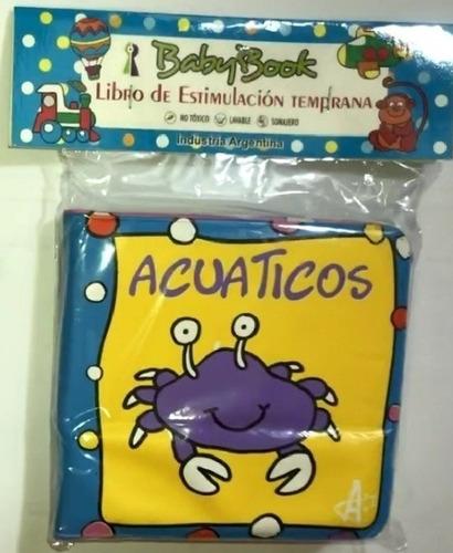 libro. para la ducha. pvc. baby book. atoxicos. x1 unidad