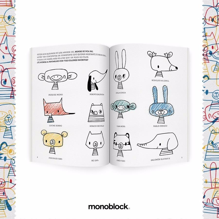 Libro Para Pintar Animales Exploradores Del Mundo Monoblock - $ 235 ...