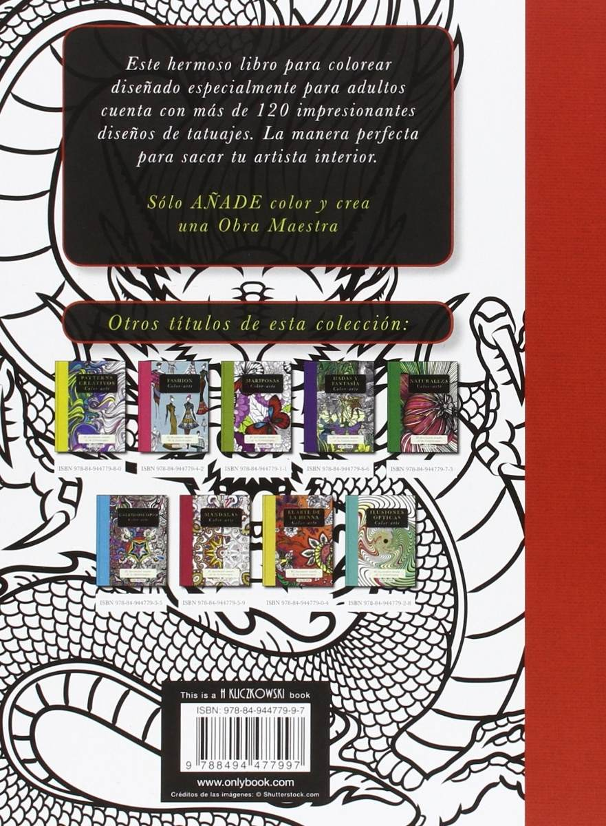 Libro Para Pintar Arte-color Tatuajes (19197) - $ 175,00 en Mercado ...
