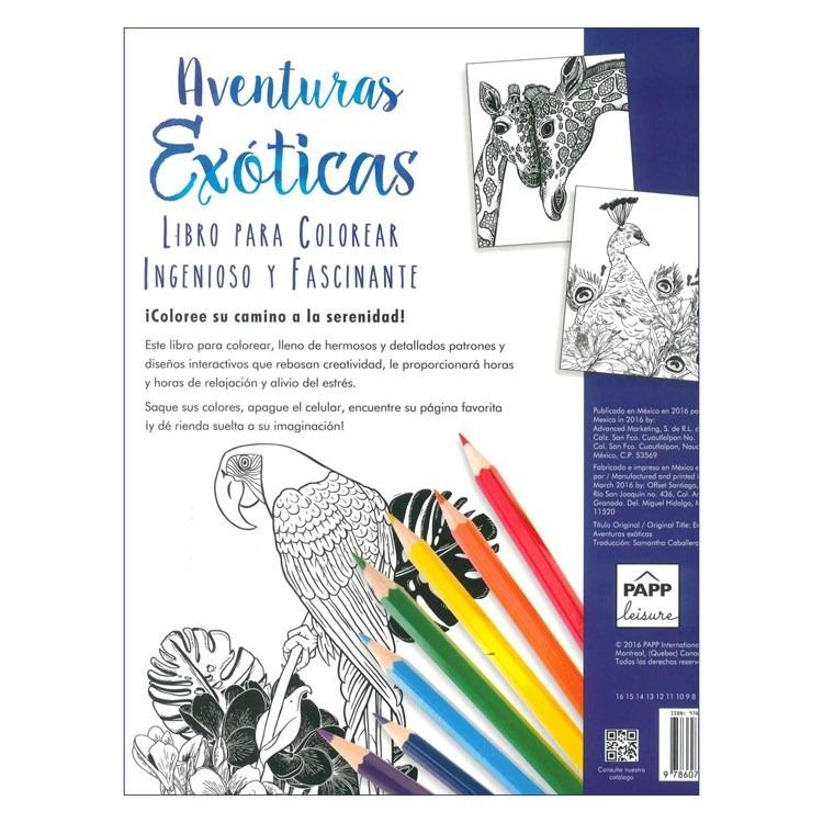 Libro Para Pintar Aventuras Exoticas (19199) - $ 230,00 en Mercado Libre