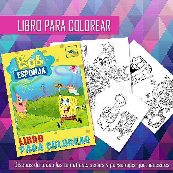 Libro Para Pintar Bob Esponja Imprimible Colorear Imprimir