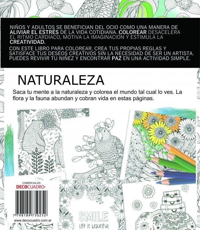 Libro Para Pintar Colorear Antistress Naturaleza 60 Páginas - $ 349 ...