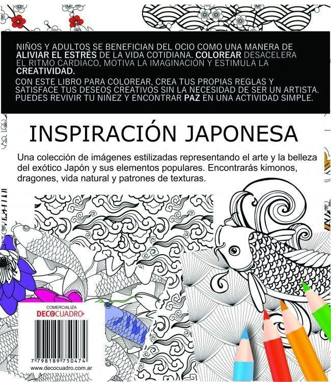 Libro Para Pintar Colorear Inspiracion Japonesa 60 Paginas - $ 349 ...