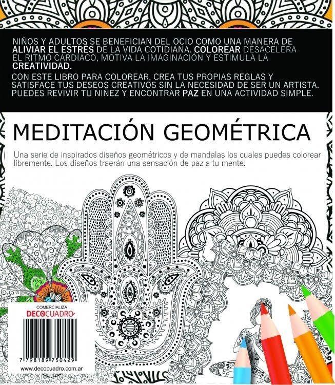 Libro Para Pintar Colorear Meditacion Geometrica 60 Paginas - $ 290 ...