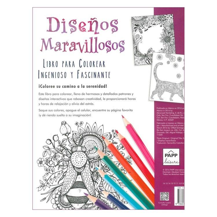 Libro Para Pintar Diseños Maravillosos (19199) - $ 230,00 en Mercado ...