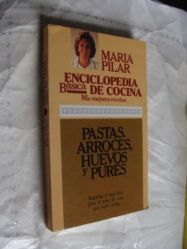 libro pastas arroces , huevos y pures , maria pilar , 159 pa