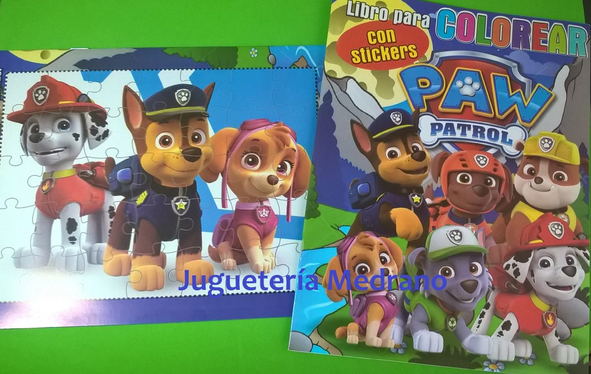 Libro Patrulla Canina Para Colorear Con Stickers Almagro 1600