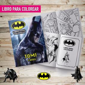 Libro Pcolorear Editado Pintar Batman Souvenir Imprimible