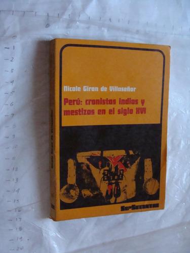 libro peru , cronicas indias y meztizos en el siglo xvi , 18