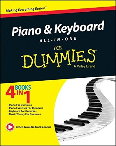 libro piano & keyboard all-in-one for dummies - nuevo
