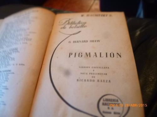 libro pigmalion   g. bernard shaw (435w