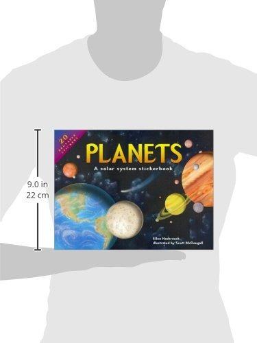 libro planets: a solar system stickerbook - nuevo