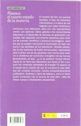 Libro Plasma: El Cuarto Estado De La Materia - Nuevo - $ 710.00 en ...