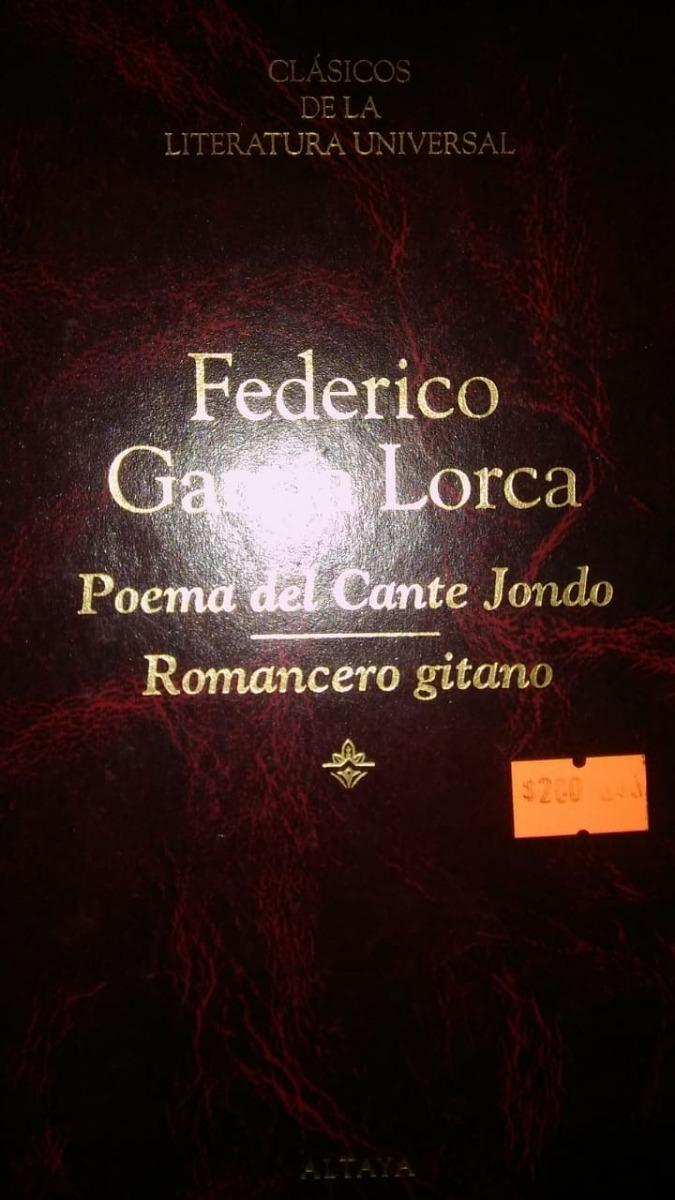 Libro Poema Del Cante Jondo De Federico Garcia Lorca 25000